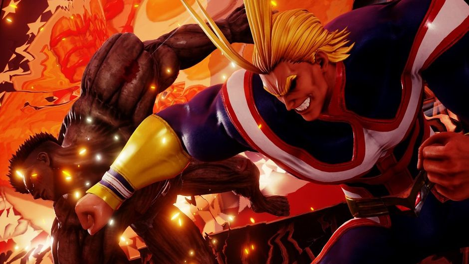 All Might punching Younger Toguro in Jump Force.
