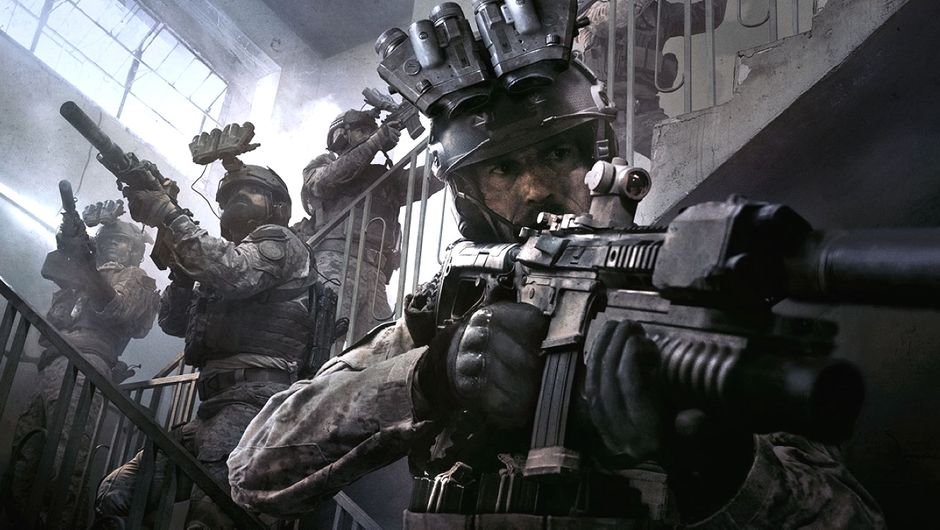 modern warfare screenshot showing several soldiers with guns