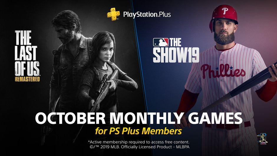 artwork showing PS Plus games for October 2019
