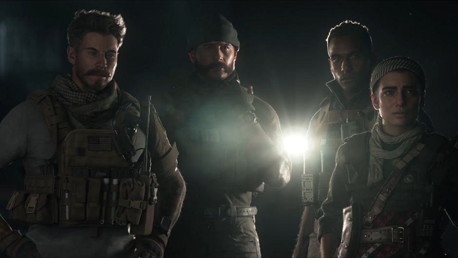 Modern Warfare screenshot showing several army characters