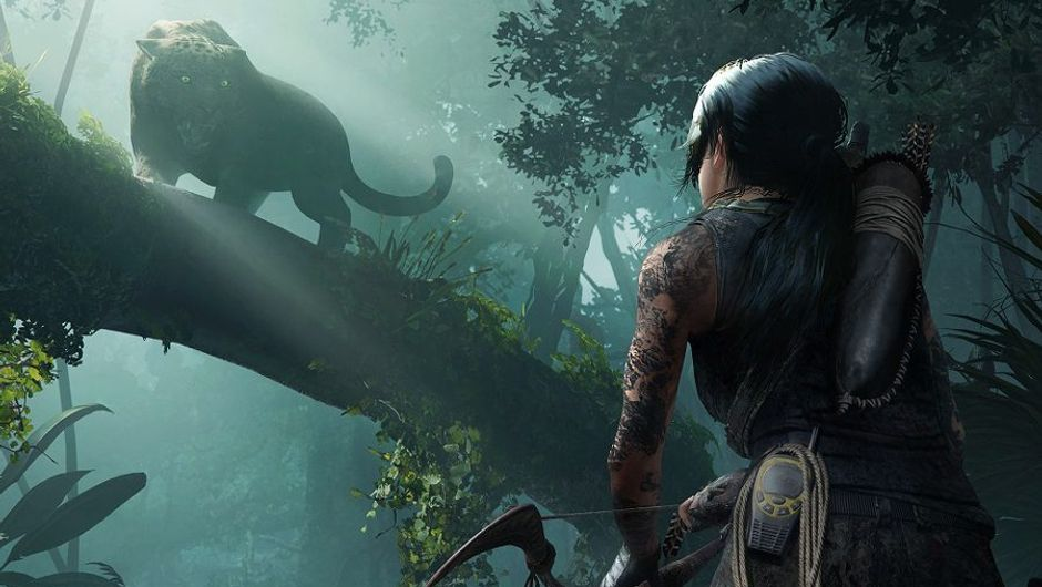 picture showing female character hunting tiger