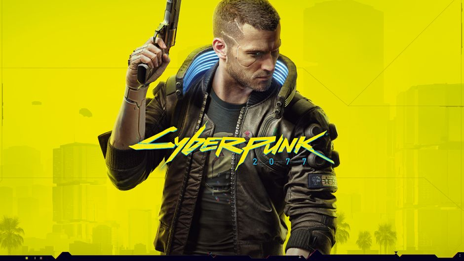 "Key art for Cyberpunk 2077, featuring the main character ""V""."