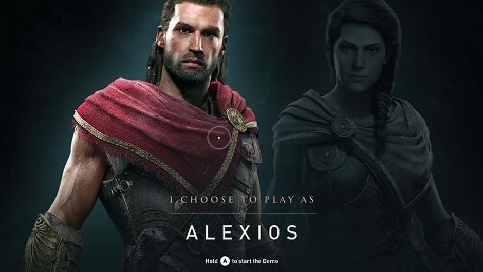 Alexios, one of two protagonists of Assassin's Creed: Odyssey