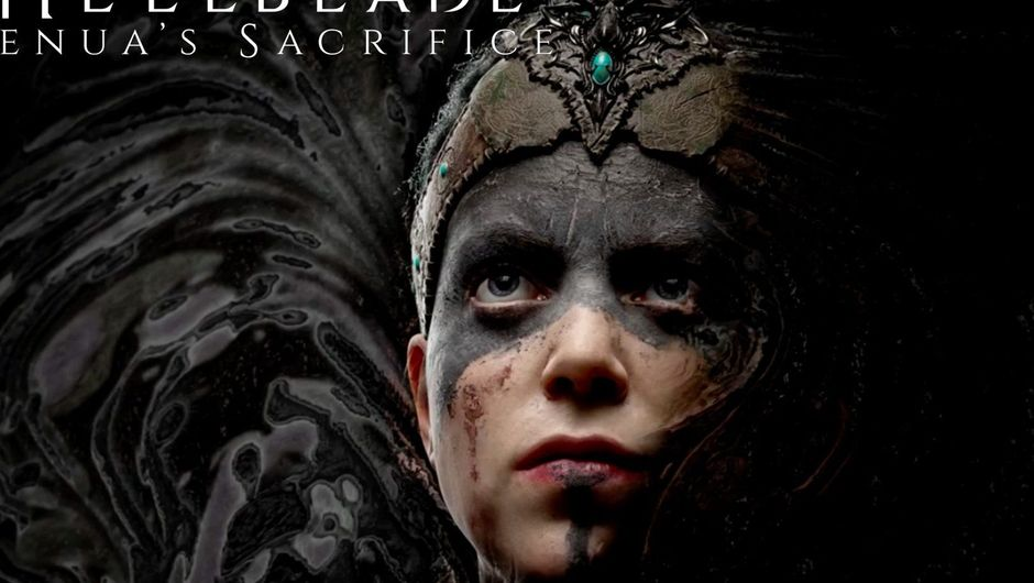 Picture of the protagonist of Hellblade Senua's Sacrifice on a dark background.