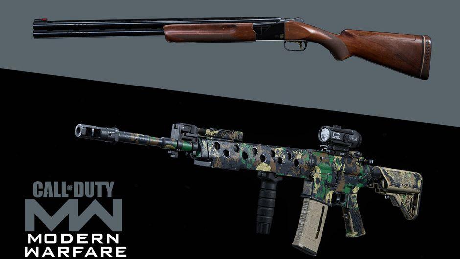 COD Modern Warfare artwork showing 726 Shotgun and M4A1