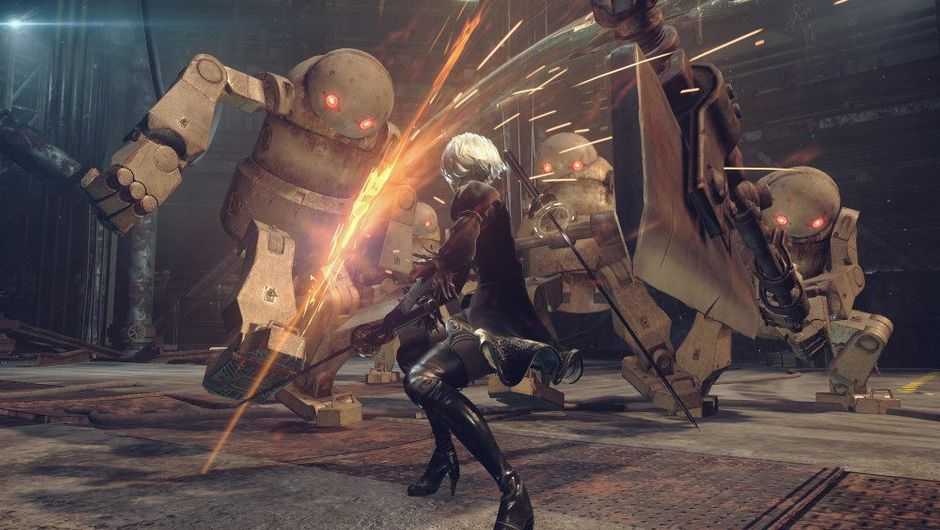 picture showing combat in nier automata