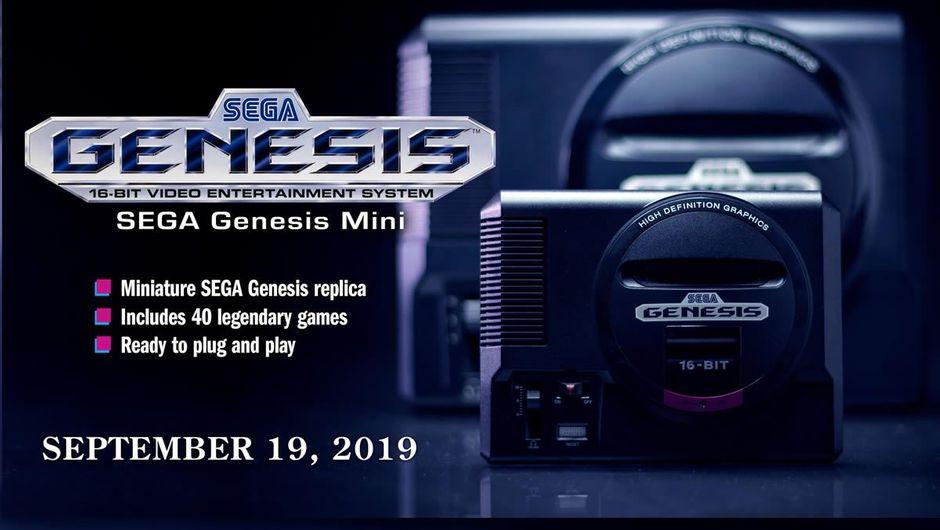 Sega Genesis Mini announcement slide