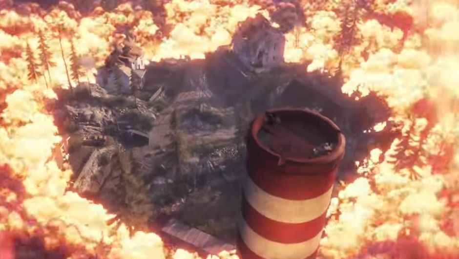 Screenshot from a Battlefield V trailer suggesting battle royale mode