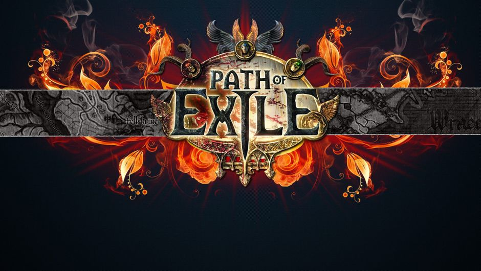Path of exile epic looking banner covered in flames.