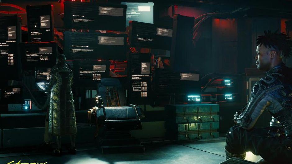 Cyberpunk 2077 Netrunner operating computers