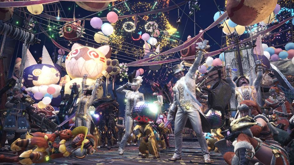 picture showing several characters celebrating.