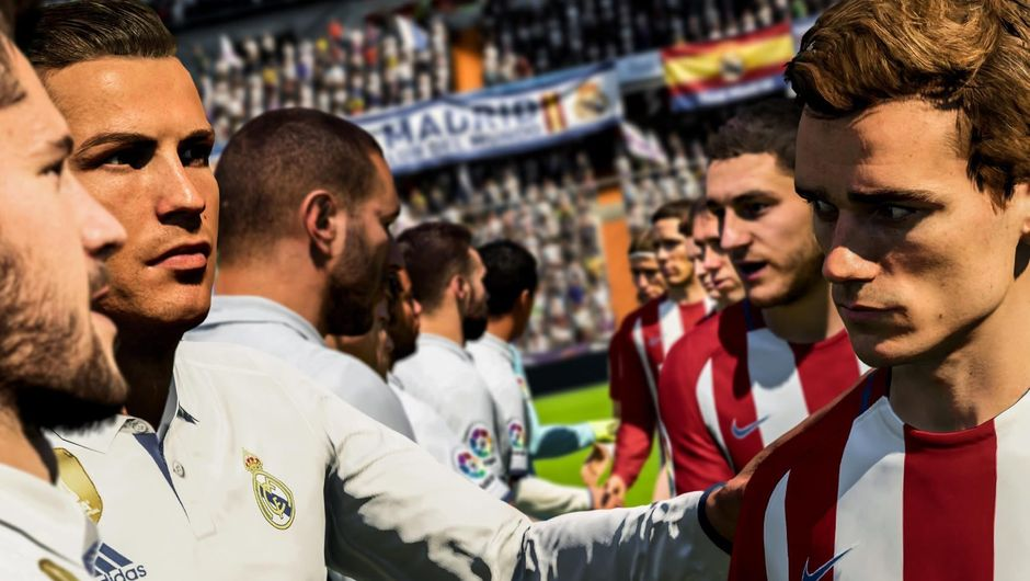 Screenshot showing Ronaldo and Griezmann from FIFA 18