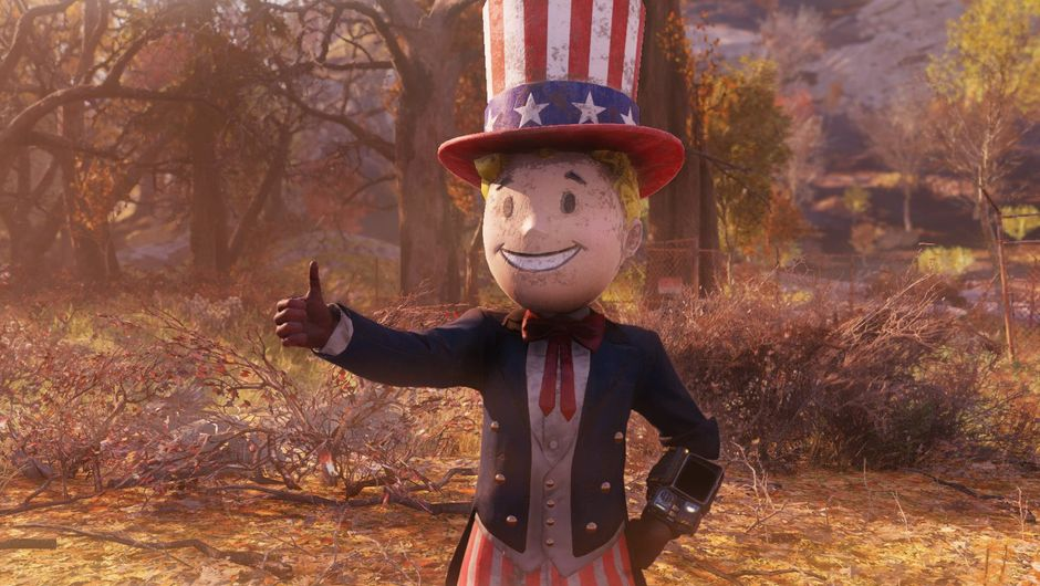 picture showing vault boy in fallout 76