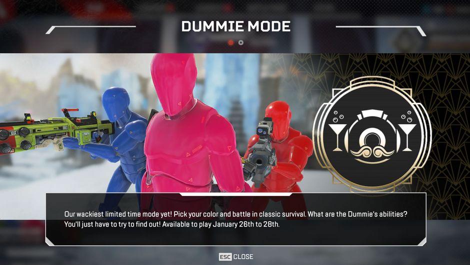 Crash test dummies holding guns in Apex Legends