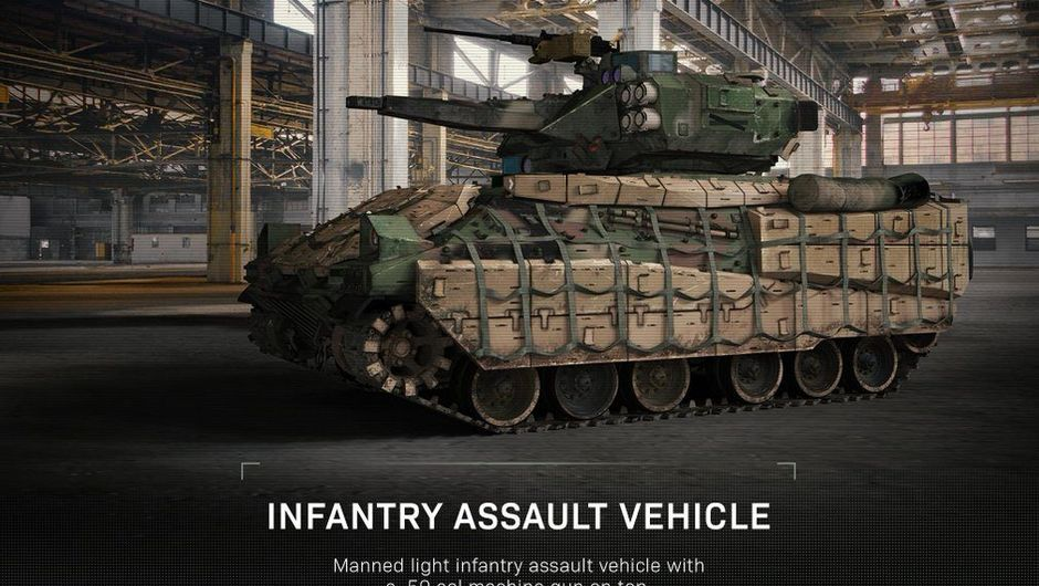 Call of Duty Modern Warfare screenshot showing an infantry assault vehicle