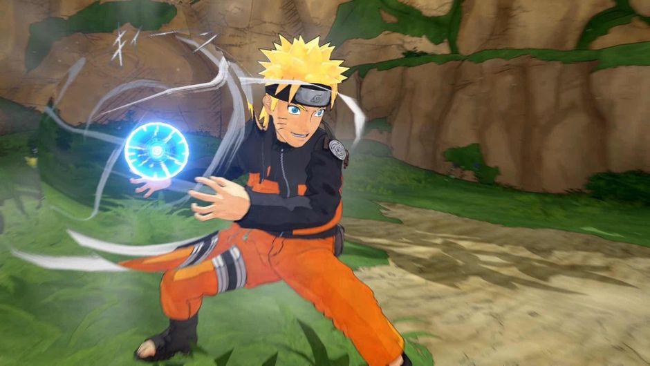 Naruto creating a Rasengan in Naruto to Boruto: Shinobi Striker.