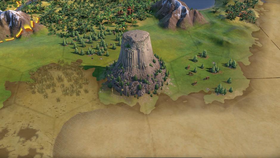 Civilization VI: Gathering Storm. Mato Tipila, also known as the Devil's Tower