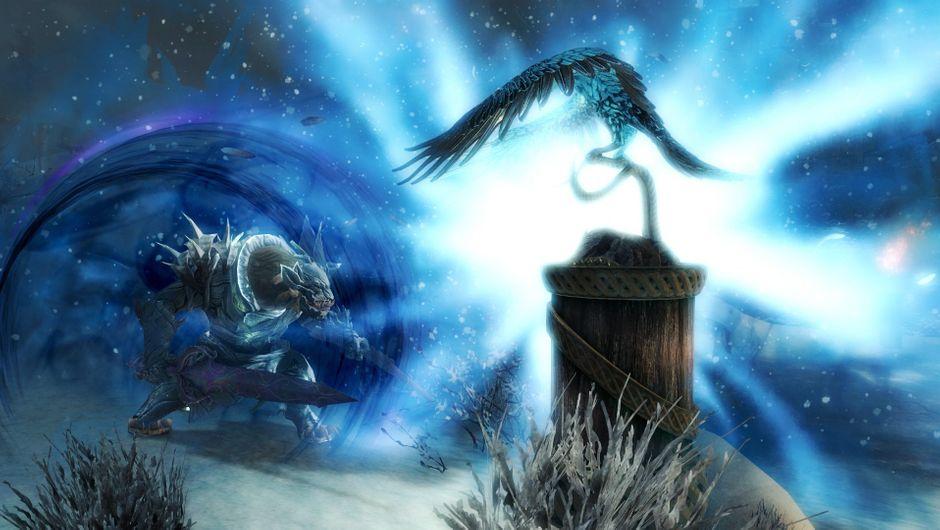 Promotional screenshot for Guild Wars 2 Icebrood Saga