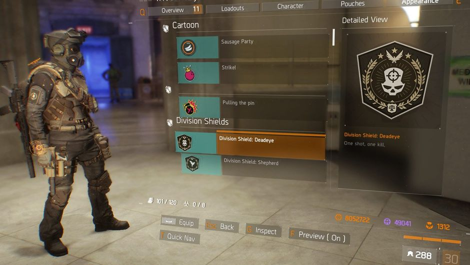 Screenshot of the new Shields feature in The Division