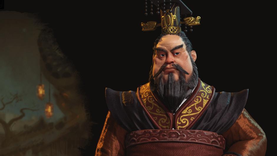 Chinese leader Qin Shi Hunay in Civilization VI
