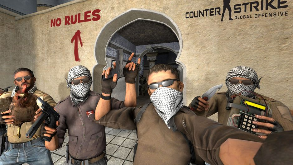 Terrorists are protesting against something on Counter-Strike: Global Offensive's dust map.