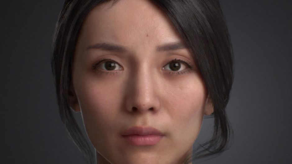 Image of a woman rendered in real-time thanks to 3Lateral's tech