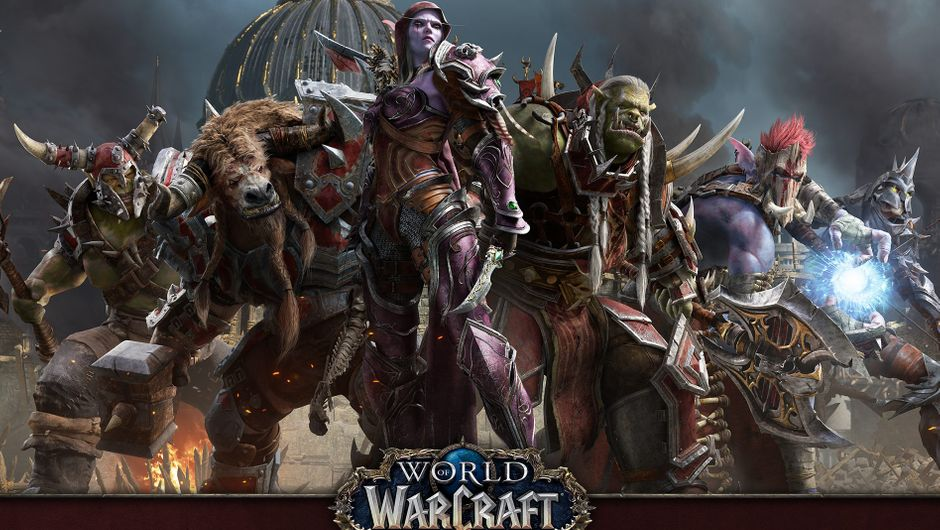 Picture of a bunch of Hordies on a poster for Battle for Azeroth