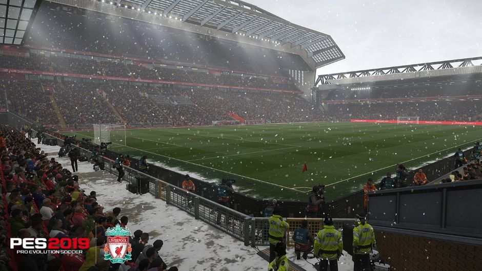Anfield in Pro Evolution Soccer 2019.