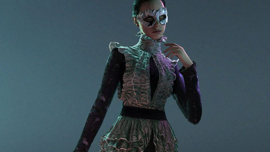 Promotional image for a Malkavian vampire in Vampire the Masquerade: Bloodlines 2