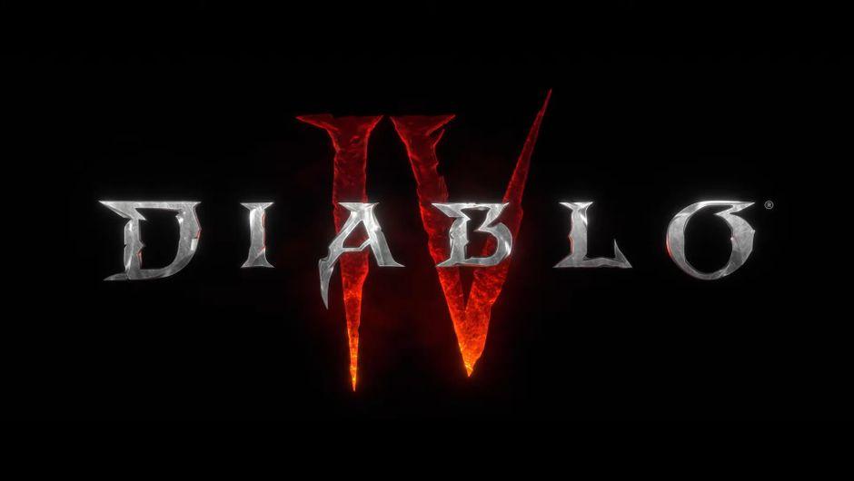 Diablo IV logo against a black background