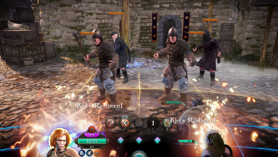 picture shwing combat in Bard's tale 4