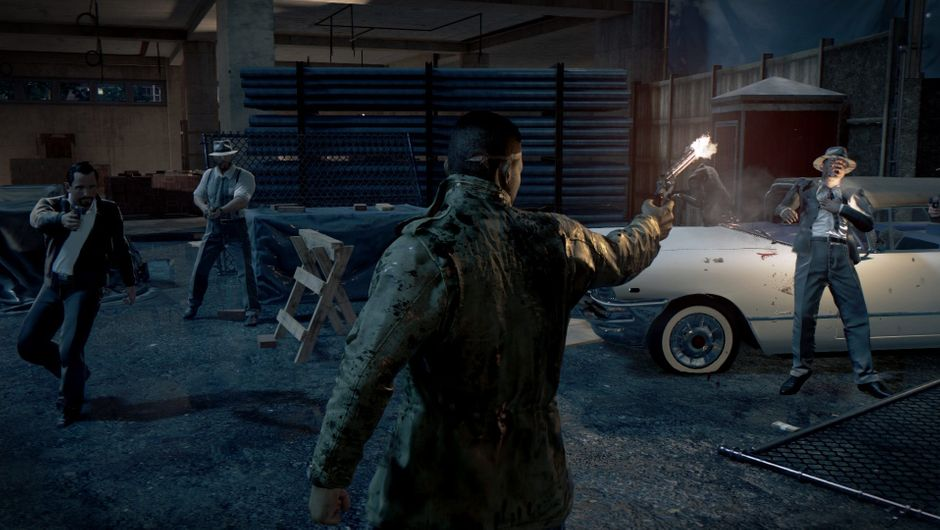 Mafia 3 protagonist, Lincoln Clay, is shooting someone