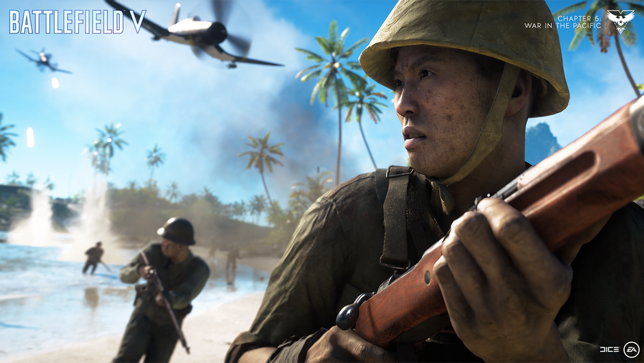 Battlefield V screenshot showing war in the pacific