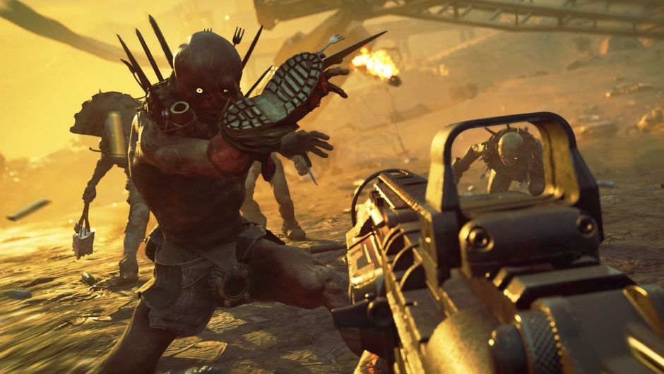 Picture of the player ruining some NPC's day in Rage 2