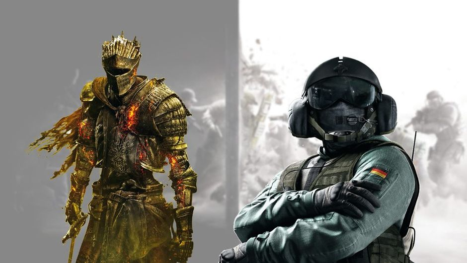 picture showing Rainbow Six and Dark Souls chararacters