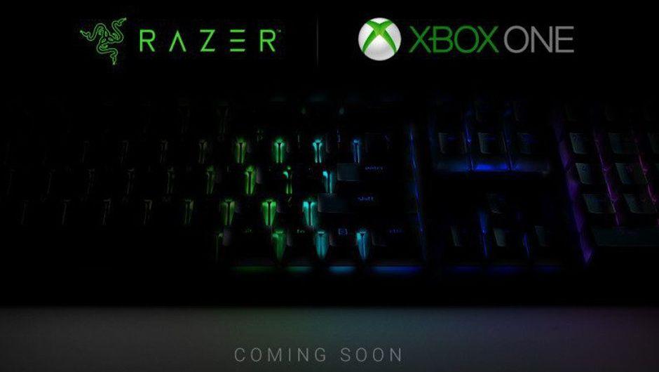 Promotional image for the Razer partnership with Microsoft