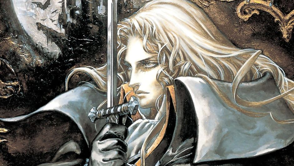Alucard on the promotional image for Castlevania: Symphony of the Night