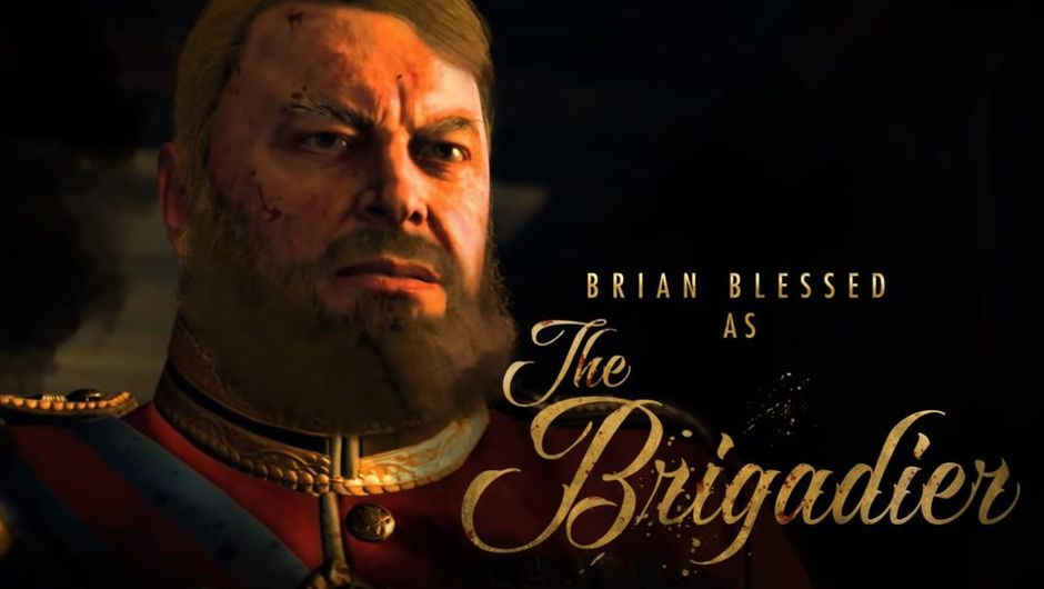 Brian Blessed as the Brigadier in Call of Duty: Black Ops 4 Zombies