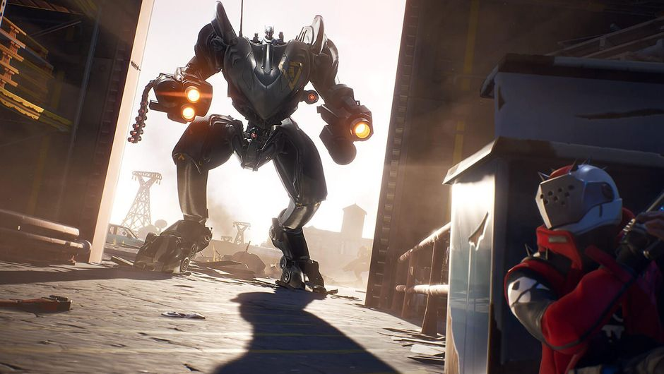 fortnite artwork showing a mech from season 10