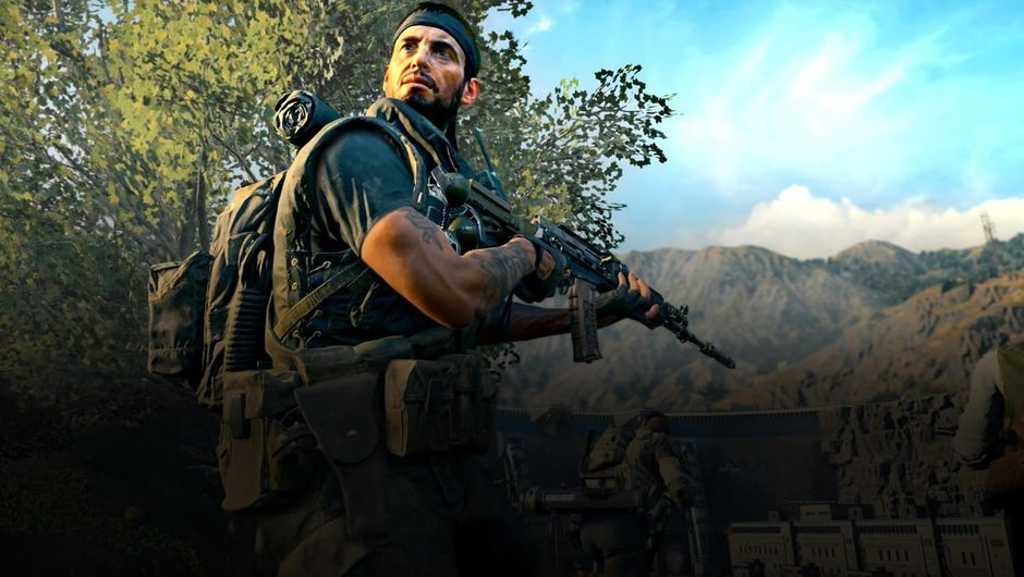 An armed soldier from Call of Duty: Black Ops 4 Blackout