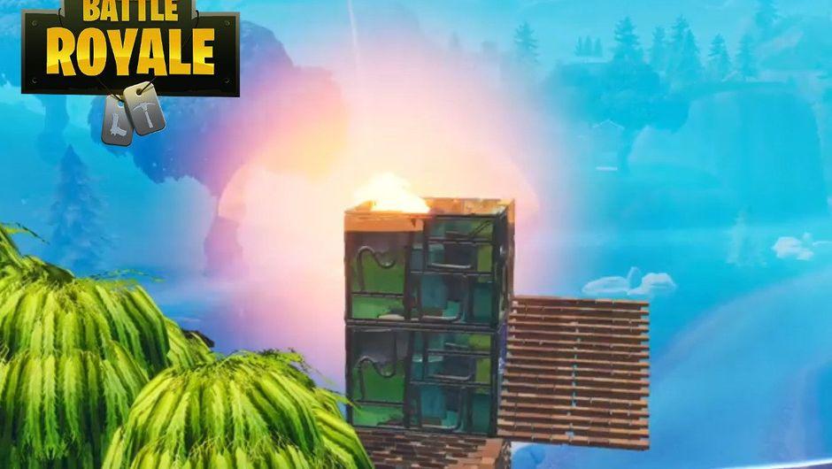 A meteorite is falling in Fortnite Battle Royale.