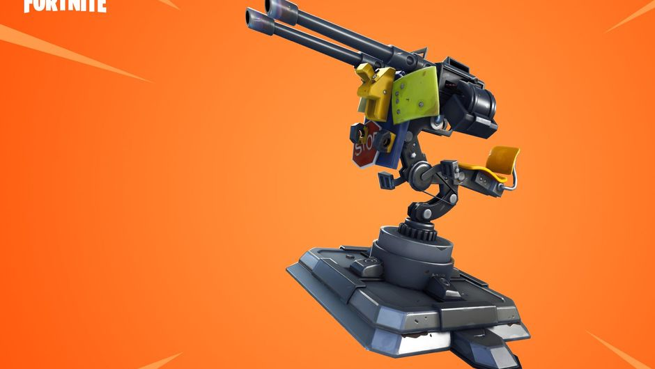 Mounted turret trap from Fortnite's 6.30 update