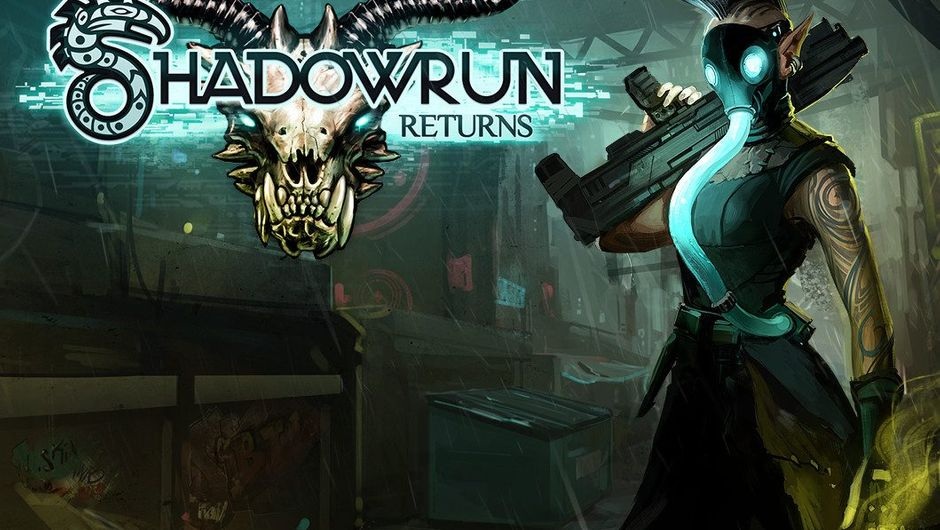 Poster image of Shadowrun Returns featuring an elf with a gas mask and a rifle