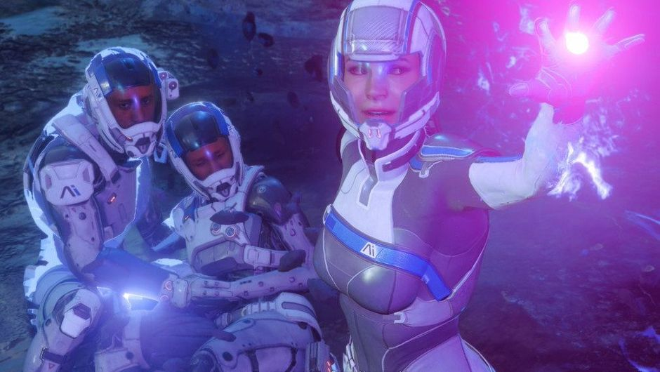 Picture of Cora doing her space magic in Mass Effect Andromeda