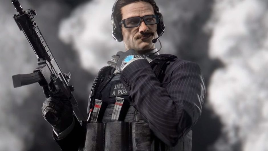 Promotional image for Warden from Rainbow Six Siege