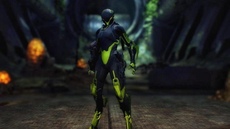 One of Anthem's exosuits called Javelins