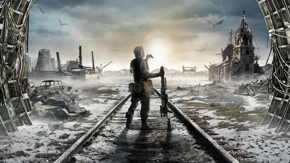 A man staring across postapocalyptic wastelands in Metro Exodus