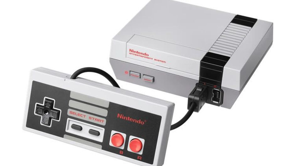 Nintendo Entertainment System Classic Edition with a controller