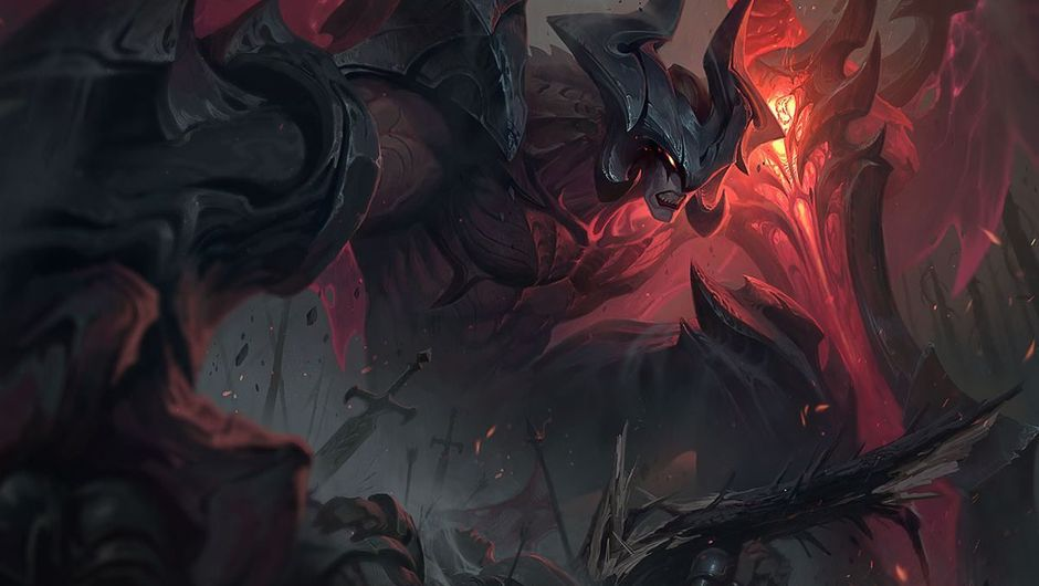 Aatrox is looking cool in his new splash art following the champion rework