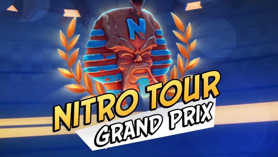 artwork showing ctr nitro tour grand prix logo